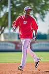 9 March 2014: Washington Nationals outfielder Eury Perez runs bases prior to a Spring Training game against the St. Louis Cardinals at Space Coast Stadium in Viera, Florida. The Nationals defeated the Cardinals 11-1 in Grapefruit League play. Mandatory Credit: Ed Wolfstein Photo *** RAW (NEF) Image File Available ***