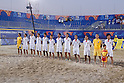 Japan team group line-up (JPN), AUGUST 28, 2011 - Beach Soccer : Crescentini Trophy match between Italy 1-2 Japan at Stadio del Mare in Marina di Ravenna, Italy, (Photo by Enrico Calderoni/AFLO SPORT) [0391]
