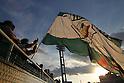 Tokyo Verdy fans,.AUGUST 26, 2012 - Football / Soccer :.2012 J.League Division 2 match between Tokyo Verdy 0-2 Giravanz Kitakyushu at Ajinomoto Field Nishigaoka in Tokyo, Japan. (Photo by Hiroyuki Sato/AFLO).