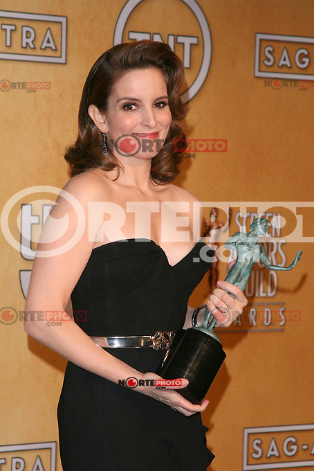 LOS ANGELES, CA - JANUARY 27: Tina Fey in the press room at The 19th Annual Screen Actors Guild Awards at the Los Angeles Shrine Exposition Center in Los Angeles, California. January 27, 2013. Credit: mpi27/MediaPunch Inc. /NortePhoto /NortePhoto