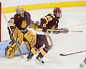 Kenny Reiter (Duluth - 35), Luke McManus (Duluth - 22) - The Boston College Eagles defeated the University of Minnesota Duluth Bulldogs 4-0 to win the NCAA Northeast Regional on Sunday, March 25, 2012, at the DCU Center in Worcester, Massachusetts.