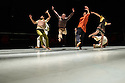 Ipswich, UK. 15.02.2014. Luca Silvestrini's PROTEIN present BORDER TALES at Dance East, Jerwood DanceHouse. Picture shows:  Femi Oyewole, Stuart Waters, Kenny Wing Tao Ho, YuYu Rau. Photograph © Jane Hobson.