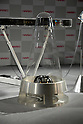 TOKYO - NOVEMBER 28: Hario Corp unveiled a cone speaker set ?Harion? which is made of heat-resistant glass. The world?s first heat-resistant glass speaker costs 16 million yen, according to the company. (Photo by Taro Fujimoto/JapanToday/Nippon News)