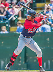 8 July 2014: Lowell Spinners infielder Deiner Lopez in action against the Vermont Lake Monsters at Centennial Field in Burlington, Vermont. The Lake Monsters rallied in the 9th inning to defeat the Spinners 5-4 in NY Penn League action. Mandatory Credit: Ed Wolfstein Photo *** RAW Image File Available ****