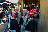 Hmong tribe Red Dzao women, Northern Vietnam.