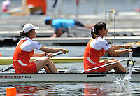 Hamilton, NEW ZEALAND.  2010 World Rowing Championship on Lake Karapiro Monday  01/11/2010. [Mandatory Credit Peter Spurrier:Intersport Images].Hamilton, NEW ZEALAND. CHN W2- move away from the start  in their heat of the women's pair.   2010 World Rowing Championships on Lake Karapiro Saturday  30/10/2010. [Mandatory Credit Peter Spurrier:Intersport Images].