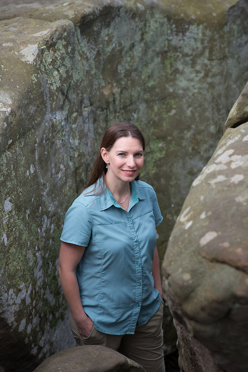 Ohio University Associate Professor of Geology Alycia Stigall at Sells Park in Athens, Ohio. Photo by Ben Siegel