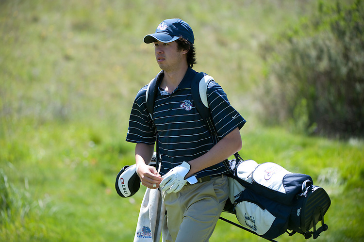 April 18, 2012; Hollister, CA, USA; Gonzaga Bulldogs golfer James Fahy during the WCC Golf Championships at San Juan Oaks Golf Club.