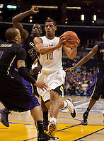 Jamal Boykin. The Washington Huskies defeated the California Golden Bears 79-75 during the championship game of the Pacific Life Pac-10 Conference Tournament at Staples Center in Los Angeles, California on March 13th, 2010.