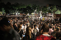 Protesters gather at night all over Gazi park of Taksim Square during a 24/7 masive rally against the turkish government in Istanbul, Turkey.