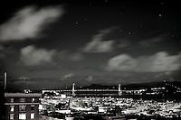 Golden Gate Bridge and San Francisco Bay at Night from Nob Hill