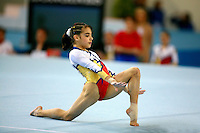 Ceresela Patrascu  of Romania performs on floor exercise during junior women's senior team final at 2006 European Championships Artistic Gymnastics at Volos, Greece on April 28, 2006.<br />