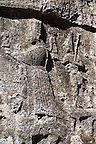 Picture of Yazilikaya [ i.e written riock ], Hattusa  The largest known Hittite sanctuary. 13th century BC made in the reign of Tudhaliya 1V . 6