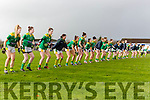 The Kerry team warm up ahead of their clash with Dublin in the NFL in Castleisland on Sunday
