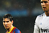 Champions League. Camp Nou. Semifinales, partido de vuelta. FC Barcelona-  Real Madrid . Messi y Cristiano Ronaldo- (c) Vicens Gimenez
