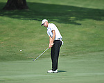 Golfer Will Strickler chips on the 7th hole at the PGA FedEx St. Jude Classic at TPC Southwind in Memphis, Tenn. on Thursday, June 9, 2011.