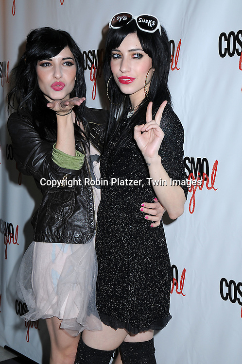 "Australian singing group The Veronicas..posing for photographers at a special screening of ""The Bunny House"" hosted by CosmoGirl, Columbia Pictures and the cast of the movie on August 18, 2008 at the Hearst Tower. ....Robin Platzer, Twin Images"