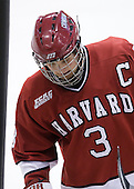 Alex Biega (Harvard - 3) - The Northeastern University Huskies defeated the Harvard University Crimson 4-1 (EN) on Monday, February 8, 2010, at the TD Garden in Boston, Massachusetts, in the 2010 Beanpot consolation game.