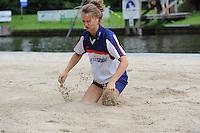 FIERLJEPPEN: GRIJPSKERK: 17-08-2013, 1e Klas wedstrijd, Klaske Nauta, ©foto Martin de Jong
