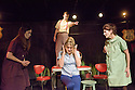 London, UK. 12.10.2015. HOW I LEARNED TO DRIVE, by Paula Vogel, directed by Jack Sain, opens at Southwark Playhouse. Picture shows:  Bryony Corrigan (Teenage Greek Chorus), Joshua Miles (Male Greek Chorus), Olivia Poulet (LI'L BIT) and Holly Hayes (Female Greek Chorus). Photograph © Jane Hobson.