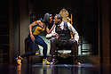London, UK. 02.05.2013. ZooNation Dance Company's SOME LIKE IT HIP HOP returns to the Peacock Theatre. Choreographed by Kate Prince. Picture shows: Teneisha Bonner (Kerri Kimbalayo) and Duwane Taylor (Governor Okeke). Photograph © Jane Hobson.