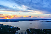 We took several images over lake travis as we had a good sunset on this day.  The sunset changes slightly as it goes down so I like this capture also so I put them both out there.