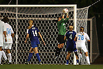 24 September 2009: Duke's Tara Campbell (1) makes a save. The University of North Carolina Tar Heels defeated the Duke University Blue Devils 2-1 in sudden victory overtime at Fetzer Field in Chapel Hill, North Carolina in an NCAA Division I Women's college soccer game.