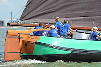 ZEILEN: LEMMER: Lemster baai, 30-07-2014, SKS skûtsjesilen, schipper Siete Meeter, Ljouwerter skûtsje, ©Martin de Jong