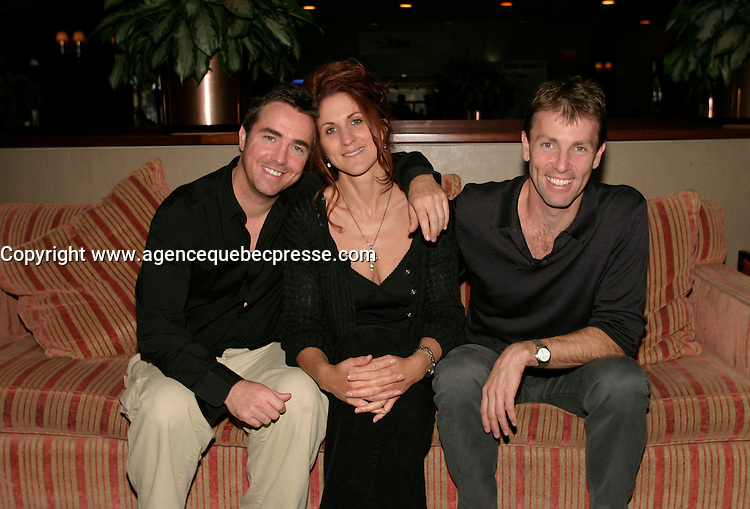 Sept 2 2003  Montreal, Quebec, Canada<br /> <br /> SEE GRACE FLY :<br /> Paul McGillion, actor and Producer (L), Gina Chiarelli, actress and producer (M) and Pete McCormack, writer, actor and producer (R)<br /> presented in the<br />  2003 Montreal World Film Festival, <br /> <br /> The Festival runs from August 27th to september 7th, 2003<br /> <br /> <br /> Mandatory Credit: Photo by Catherine Tadros- Images Distribution. (&copy;) Copyright 2003 by Catherine Tadros<br /> <br /> All Photos are on www.photoreflect.com, filed by date and events. For private and media sales