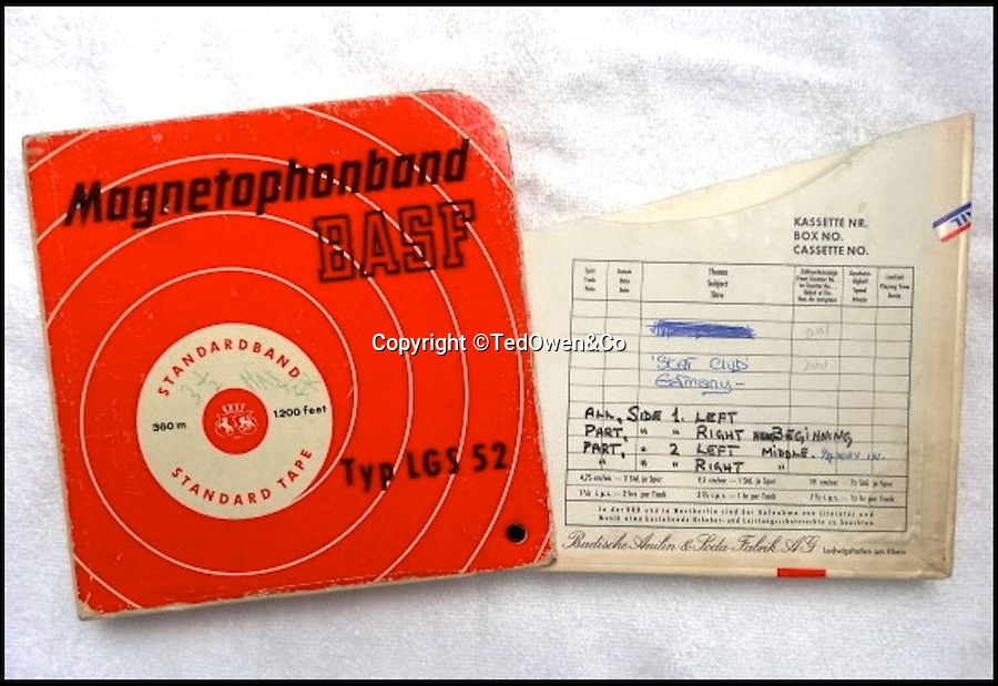 BNPS.co.uk (01202 558833)<br /> Pic: TedOwen&amp;Co/BNPS<br /> <br /> ***Please Use Full Byline***<br /> <br /> The 53 year old BASF tape box.<br /> <br /> Before they were famous...The controversial historic recording of the Beatles' on stage in Hamburg just weeks before they hit the big time are set to sell for a whopping &pound;200,000.<br /> <br /> The tape was recorded for Ted 'Kingsize' Taylor at the Star Club in Christmas 1962. Ted was actually topping the bill with his band The Dominos that night, and it's only by chance that the worlds greatest group appear on the end of the tape.<br /> <br /> The vintage Phillips tape machine used to record the fledgling Fab Four via a single microphone attached to the ceiling above the stage has also survived, and is being sold for an estimated &pound;35,000 by London-based Ted Owen Auctioneers.<br /> <br /> A long running legal dispute began in 1977 when an album of the tape was released and it took untill 1998 for the Beatles to be awarded full rights to their music - so sadly for would be vendors the tapes can only be played privately, if they did come with commercial rights you could add several digits to the estimated price.