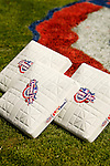 11 April 2006: Opening Day bases lie on the infield grass prior to the Nationals' Home Opener at RFK Stadium, in Washington, DC. The Mets defeated the Nationals 7-1 to maintain their early lead in the NL East...Mandatory Photo Credit: Ed Wolfstein Photo...