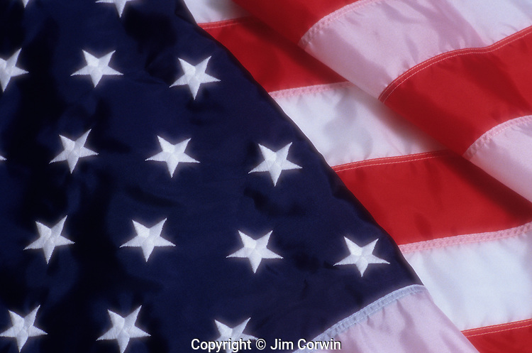American Flag, folded with Stars and Stripes showing, Lynnwood, Washington USA