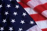 American Flag, folded with Stars and Stripes showing, Lynnwood, Washington USA