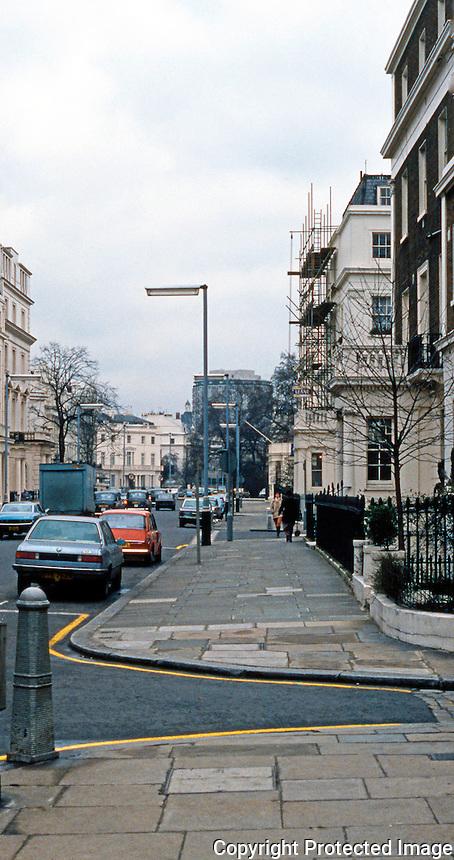 London: A Mews, Eccleston Mews, Belgravia. Behind Eccleston Square. Thomas Cubitt, 1835.