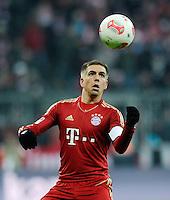 FUSSBALL   1. BUNDESLIGA  SAISON 2012/2013   18. Spieltag FC Bayern Muenchen - SpVgg Greuther Fuerth       01.12.2012 Philipp Lahm (FC Bayern Muenchen) mit Ball