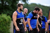 Guy Mercer of Bath Rugby looks on. Bath Rugby training session on July 21, 2015 at Farleigh House in Bath, England. Photo by: Patrick Khachfe / Onside Images