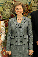 Queen Sofia of Spain in audience with Normon Laboratories.