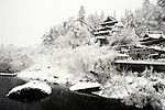 Snow falls on Fukuman Kokuzoson Enzoji Temple, the setting for the Hadaka Mairi festival in Yanaizu, Fukushima Prefecture, Japan. The winter ritual, variations of which exist throughout Japan, is undertaken by males as a purification ritual. It has its origins in an ancient folk legend, in which the people of Yanaizu underwent a quest to drive away the Dragon God, who lived in the Tadami River, which flows through the town, and who had entered the town in order to steal the treasure of Enzoji Temple, where the main event of the Hadaka Mairi is held. It has been an annual tradition for more than a thousand years and today participants write wishes on their arms and torsos asking for success in business or for their favorite sports team.