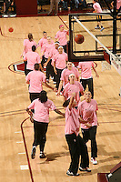 STANFORD, CA - FEBRUARY 14:  (Not in order) Guard Melanie Murphy #0, guard Grace Mashore #1, forward Jayne Appel #2, forward Michelle Harrison #5, guard JJ Hones #10, forward Kayla Pedersen #14, guard Lindy La Rocque #15, guard Hannah Donaghe #20, guard Rosalyn Gold-Onwude #21, guard Jeanette Pohlen #23, forward Ashley Cimino #24, forward Nnemkadi Ogwumike #30, forward Morgan Clyburn #31, forward Jillian Harmon #33, and forward Sarah Boothe #42 of the Stanford Cardinal during Stanford's 58-41 win against the California Golden Bears on February 14, 2009 at Maples Pavilion in Stanford, California.