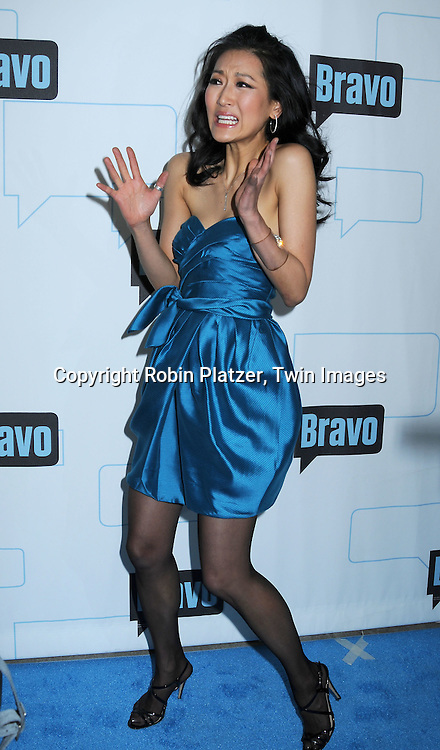 "Kelly Choi of ""Top Chef Masters"" posing for photographers at The Bravo Upfront  Party on March 10, 2010 at Skylight Studios in New York City."