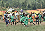 Children displaced by war in the eastern Congo play soccer as a way to promote emotional wellbeing. They live in a displaced persons camp in the village of Sasha. A quarter of a million people have been newly displaced by fighting in the eastern Congo, where some 5.4 million have died since 1998 from war-related violence, hunger and disease. .