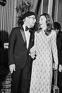 08 Jan 1973, Hollywood, Los Angeles, California, USA --- Groucho Marx and his companion at Adolph Zukor's 100th birthday celebrations. --- Image by © JP Laffont