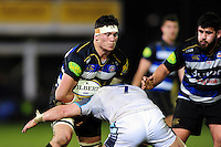 Francois Louw of Bath Rugby takes on the Newcastle Falcons defence. Aviva Premiership match, between Bath Rugby and Newcastle Falcons on March 18, 2016 at the Recreation Ground in Bath, England. Photo by: Patrick Khachfe / Onside Images