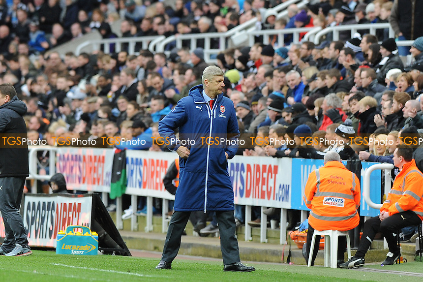 Arsenal manager Arsène Wenger - Newcastle United vs Arsenal - Barclays Premier League Football at St James Park, Newcastle upon Tyne - 21/03/15 - MANDATORY CREDIT: Steven White/TGSPHOTO - Self billing applies where appropriate - contact@tgsphoto.co.uk - NO UNPAID USE
