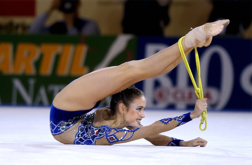 October 19, 2001; Madrid, Spain:  LYASAN UTIASHEVA of Russia performs with rope at 2001 World Championships at Madrid.
