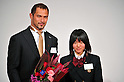(L to R) Koji Murofushi , Anna Doi, DECEMBER 15,2011 - Athletics : Japan Association of Athletics Federations Athletic Award 2011 durinng Athlete of the year 2011 at Cerulean Tower Tokyu Hotel, Tokyo, Japan. (Photo by Jun Tsukida/AFLO SPORT) [0003]