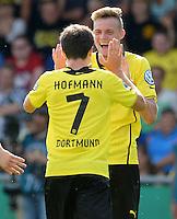 FUSSBALL       DFB POKAL 1. RUNDE        SAISON 2013/2014 SV Wilhelmshaven - Borussia Dortmund    03.08.2013 Jubel nach dem 2:0: Jonas Hoffmann und Marvin Ducksch (re, beide Dortmund)