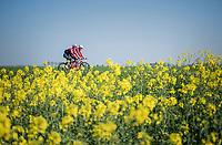 Jasper Stuyven (BEL/Trek-Segafredo) &amp; Matthias Br&auml;ndle (AUT/Trek-Segafredo)<br /> <br /> Team Trek-Segafredo relaxed training ride  ahead of the 2017 Paris-Roubaix 1 day before the race