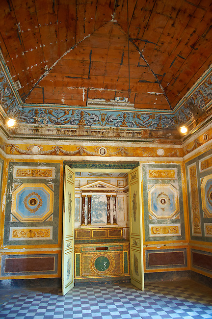 Interior of Baroque Villa Palagonia - Baghera Sicily Pictures, photos, images &amp; fotos