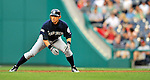 21 June 2011: Seattle Mariners right fielder Ichiro Suzuki in action against the Washington Nationals at Nationals Park in Washington, District of Columbia. The Nationals rallied from a 5-1 deficit, scoring 5 runs in the bottom of the 9th, to defeat the Mariners 6-5 in inter-league play. Mandatory Credit: Ed Wolfstein Photo